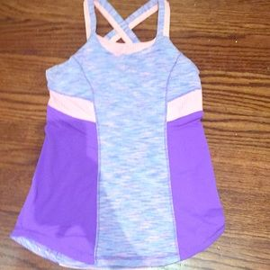 Ivivva kids size 14 purple and pink tank top
